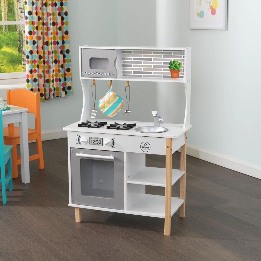 Drewniana Kuchnia Kidkraft Little Bakers z Akcesoriami 53379  Zabawki  Kuch   -> Kuchnia Dla Dzieci Kitchen Interaktywna Akcesoria