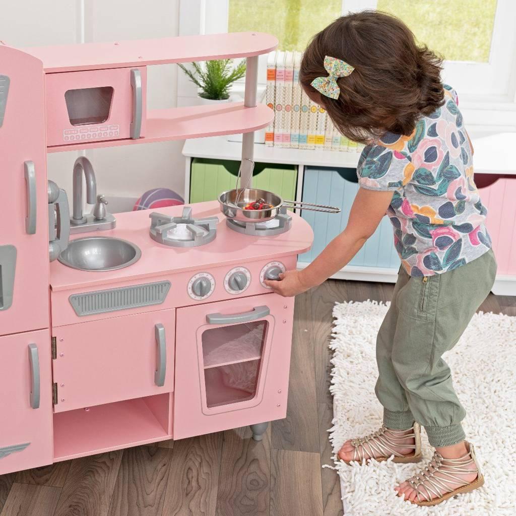 kuchnia dla dzieci kidkraft pink vintage 53179 zabawki kuchnie dla dzieci. Black Bedroom Furniture Sets. Home Design Ideas