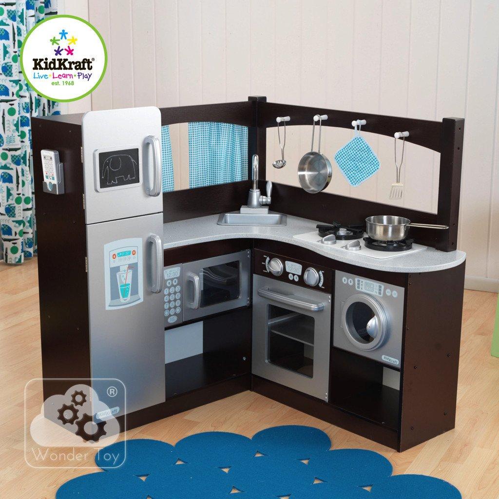 Kuchnia dla dzieci KidKraft Wielka Narożna Kuchnia Espresso 53302  Zabawki  -> Kuchnia Dla Dzieci Kinderkraft Opinie