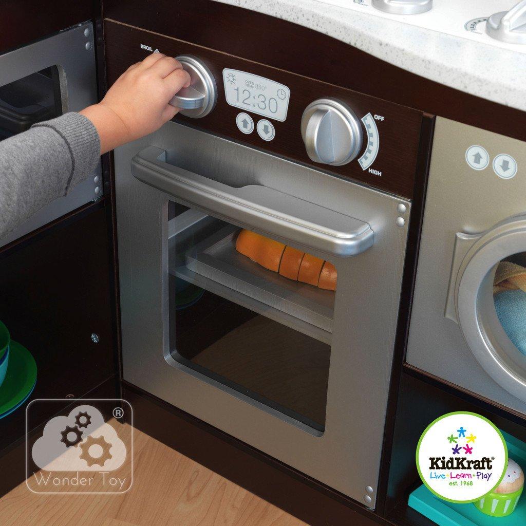 Kuchnia dla dzieci KidKraft Wielka Narożna Kuchnia   -> Kuchnia Dla Dzieci Na Baterie