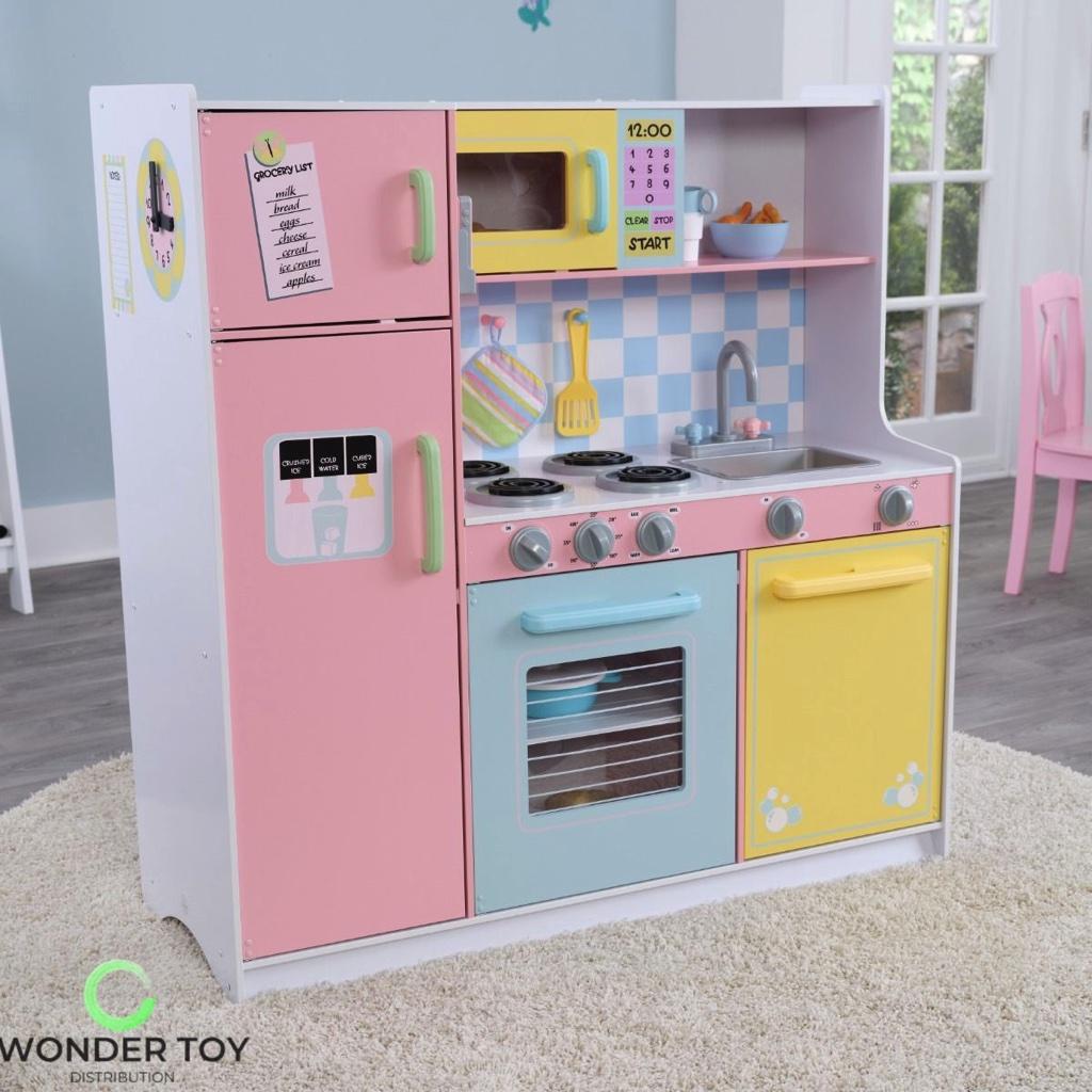 Kuchnia dla dzieci KidKraft Wielka Pastelowa Kuchnia 53181  Zabawki  Kuchni   -> Kuchnia Dla Dzieci Zabawki