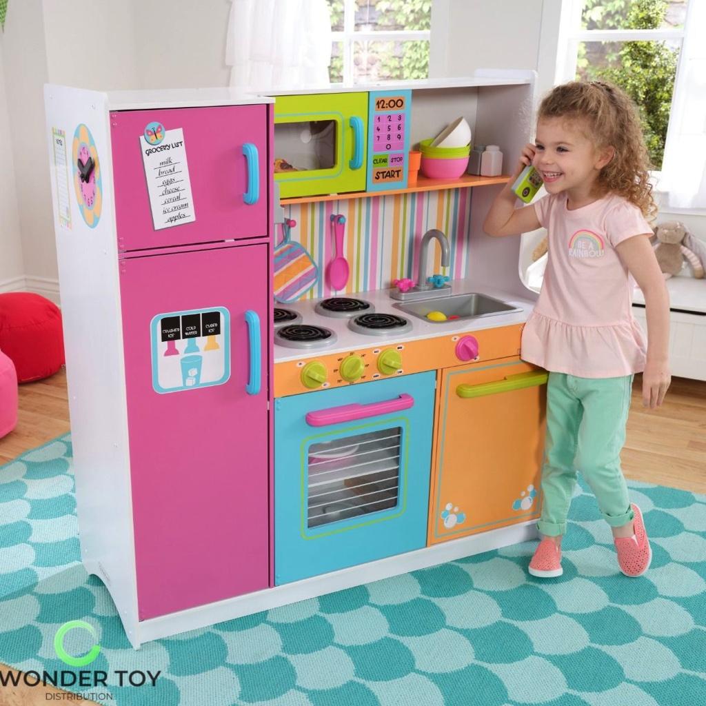 Kuchnia dla dzieci KidKraft Wielka Tęczowa Kuchnia 53100  Zabawki  Kuchnie   -> Kuchnia Drewniana Dla Dzieci Zabawki