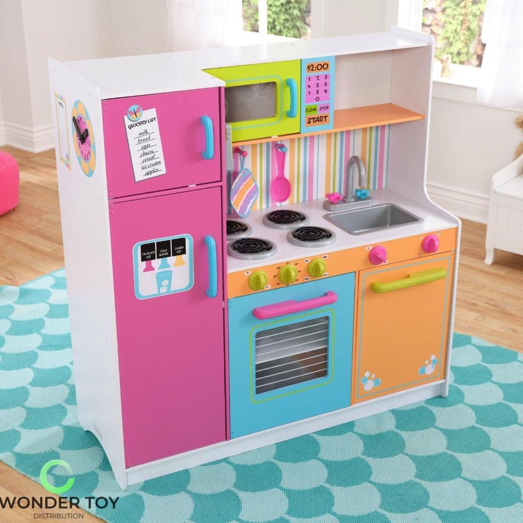 Kuchnia dla dzieci KidKraft Wielka Tęczowa Kuchnia 53100   -> Kuchnia Dla Dzieci Na Baterie