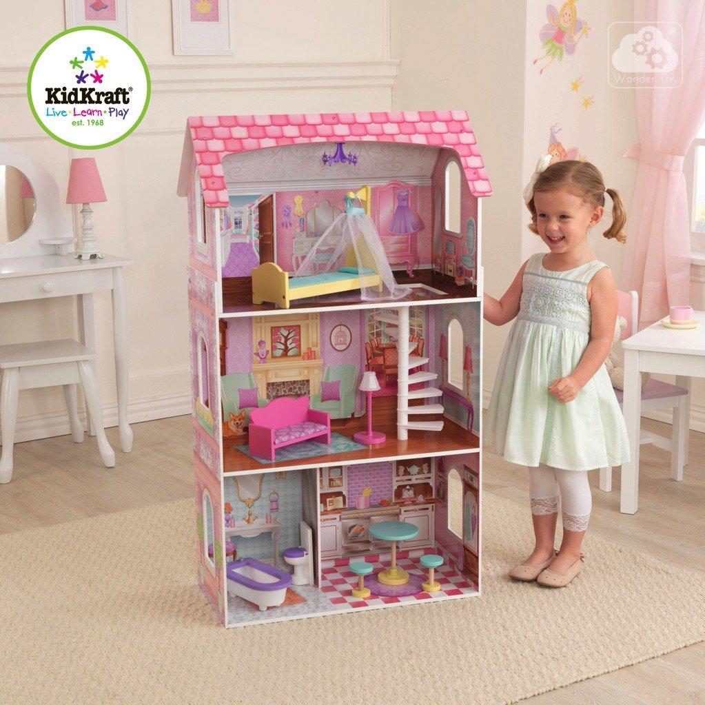 drewniane domki dla lalek kidkraft Penelope - domek do lalek Barbie