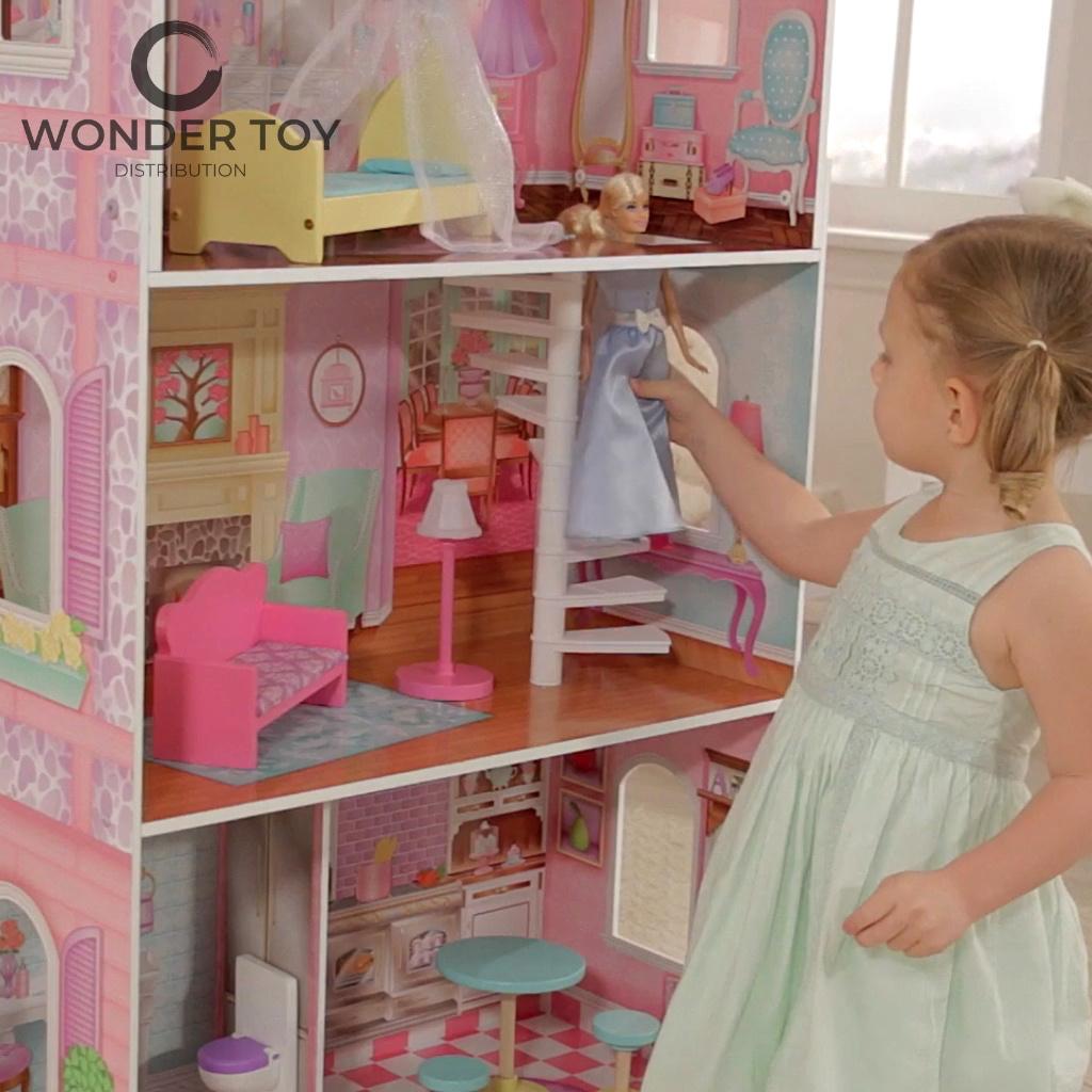 drewniany domek do lalek Barbie - domek dla lalek Penelope