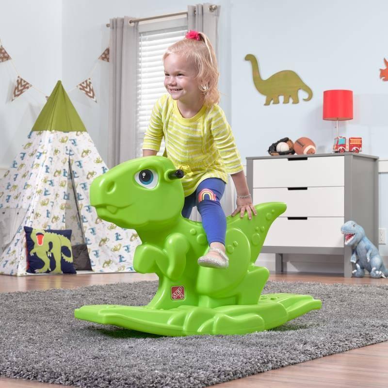 zielony bujak dino step2 wonder toy
