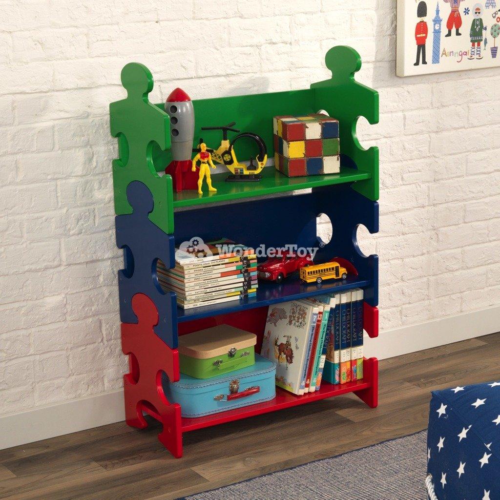 kolorowy regalik na zabawki od kidkraft w wondertoy