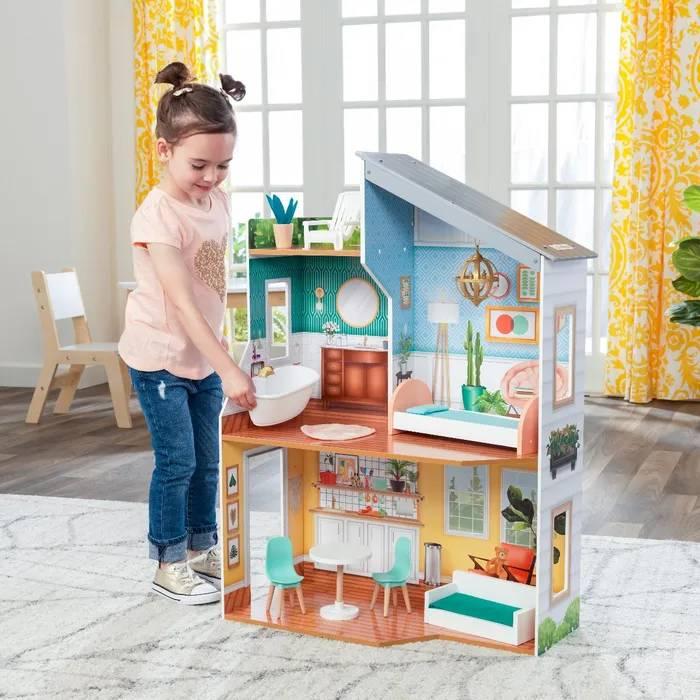 Domek dla lalek drewniany - Emily
