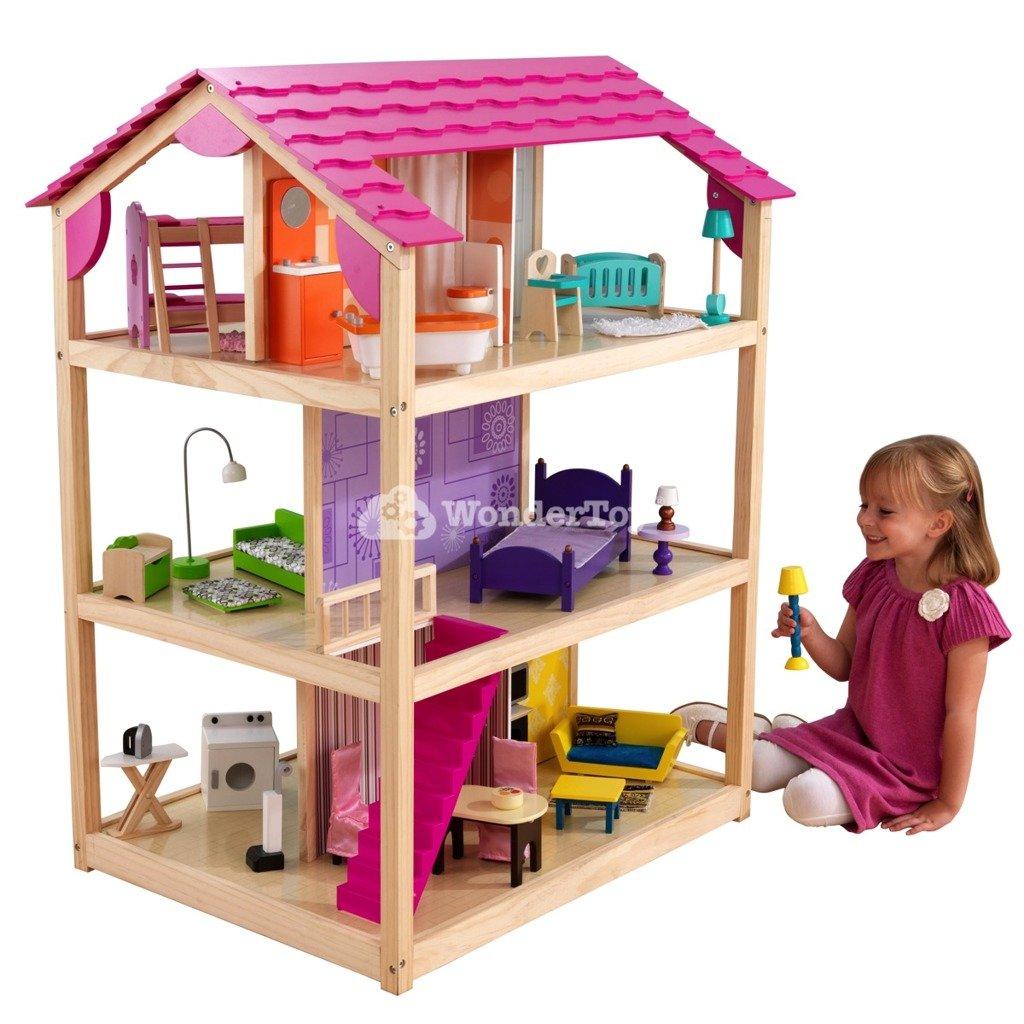 domek dla lalek kidkraft so chic 65078 zabawki domki. Black Bedroom Furniture Sets. Home Design Ideas