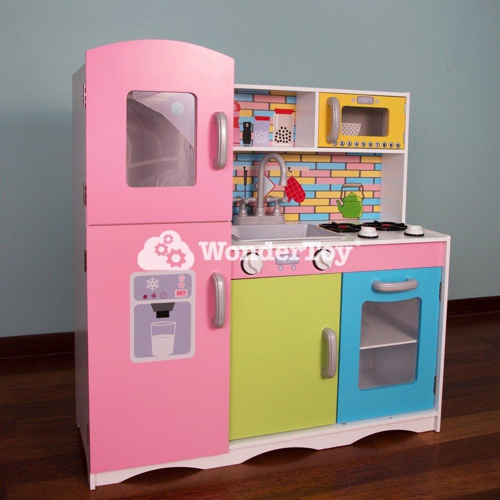 drewniana kuchnia dla dzieci neon cook deluxe zabawki
