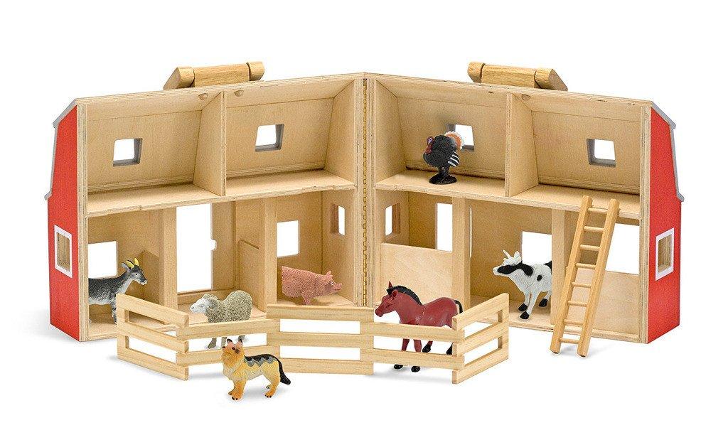 Drewniana Stajnia i Farma ze Zwierzętami Melissa & Doug ...