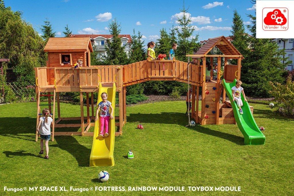 plac zabaw maxi joyful castle fungoo zabawki ogrodowe place zabaw drewniane place zabaw. Black Bedroom Furniture Sets. Home Design Ideas