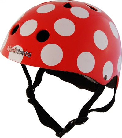 Kask Kiddimoto ® Red Dotty  KMH009