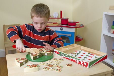 Krojona Drewniana Pizza  Melissa and Doug 10167